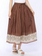 パネル柄スカート