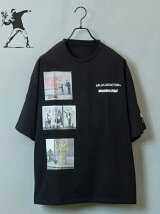 GA×BRANDALISED FRONT 3-ART TEE