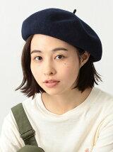 BEAMS BOY / ウール 配色 ベレー帽 ビームスボーイ