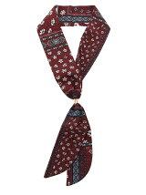 小花柄スカーフネックレス