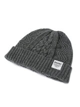 LAMB WOOL CABLE KNIT CAP