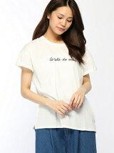 ロゴ+刺繍入りTシャツ