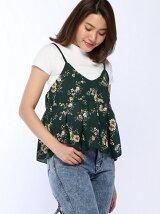 小花柄キャミ付TシャツSET