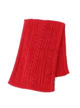 ケーブル編みマフラー
