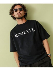 VANS 別注ショートスリーブTシャツ ナノユニバース カットソー Tシャツ ブラック ホワイト【送料無料】
