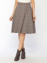カラーチェックフレアスカート