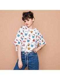 Levi's グラフィックオーバーサイズTシャツHELLOKITTYWHITE リーバイス カットソー スウェット【送料無料】