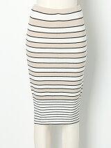 LENPUR SILK STRIPE Skirt