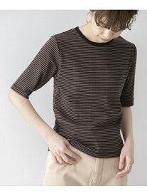 URBAN RESEARCH 【別注】Miller*URBAN RESEARCH ハーフスリーブボーダーTシャツ アーバンリサーチ カットソー Tシャツ ブラウン ブルー オレンジ