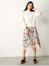 SHEER FLOWER SKIRT