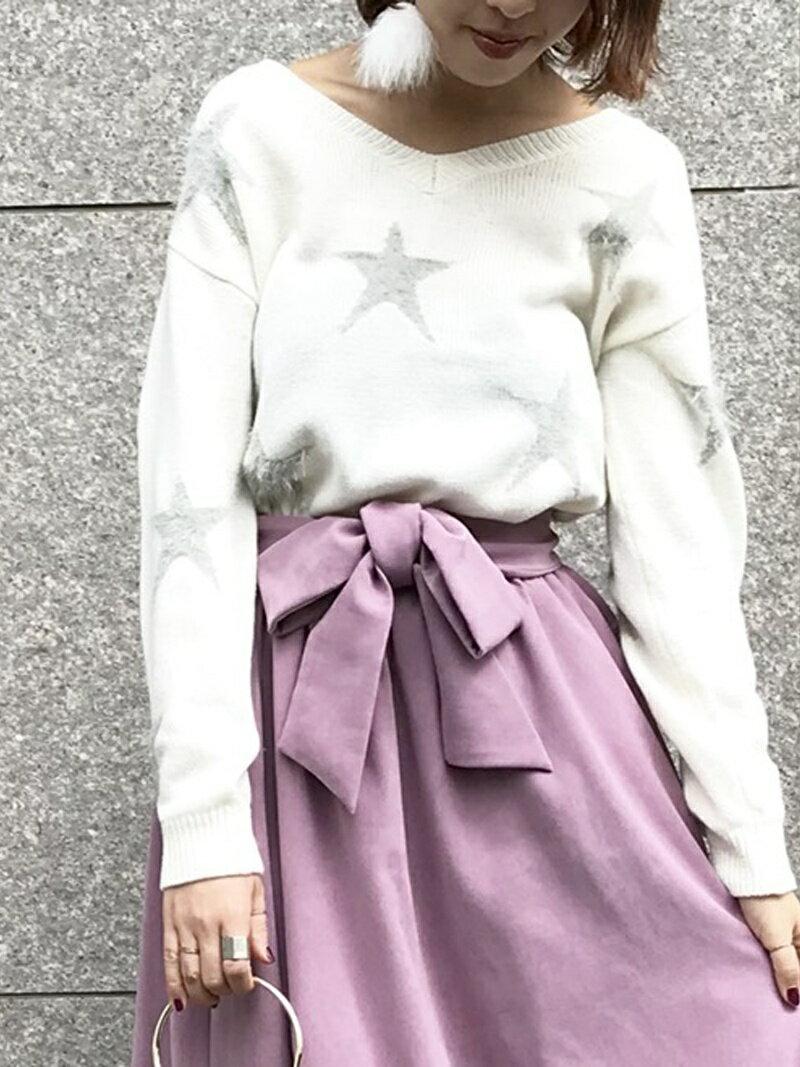 MEW'S REFINED CLOTHES シャギー星柄ニット ミューズ リファインド クローズ ニット【送料無料】