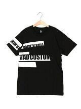 テープ風プリント半袖Tシャツ
