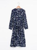 【WEB限定価格】裾フレア花柄ワンピース