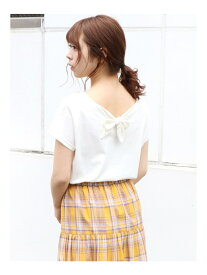【SALE/48%OFF】dazzlin basicVneckB-ribonTシャツ ダズリン カットソー Tシャツ ホワイト ブラック ピンク オレンジ カーキ