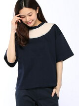 [W]See-Through Necked Tee