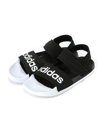 SPENDY'S Store 〈adidas〉アディレッタサンダル スペンディーズストア シューズ サンダル/ミュール ホワイト グレー【送料無料】