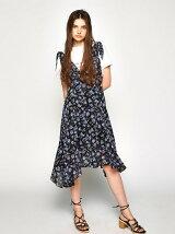 SHOULDER TIE FLOWER DRESS