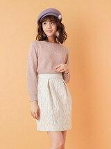 【sweet 10月号掲載】ふくれジャカードタイトスカート