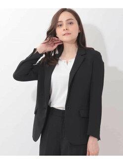 OFUON stretch tailored jacket off on coat / jacket tailored jacket black khaki