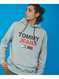 【SALE/40%OFF】TOMMY HILFIGER (M)TOMMY HILFIGER(トミーヒルフィガー) Tommy Jeansロゴパーカー トミーヒルフィガー カットソー パーカー グレー ブラック ホワイト【送料無料】