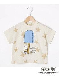 【SALE/50%OFF】HusHusH 【90-130cm】スヌーピーアイスTシャツ ハッシュアッシュ カットソー Tシャツ ホワイト ブラック