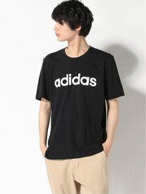 adidas Sports Performance エッセンシャル エンブロイダード リニアロゴ 半袖Tシャツ / ESSENTIALS EMBROIDERED LINEAR LOGO TEE アディダス アディダス カットソー Tシャツ ブラック ネイビー ホワイト