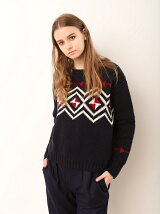 JACQUARD GEO KNIT PULLOVER