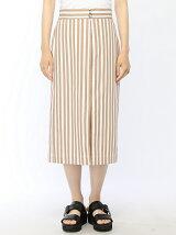 ストライプタイトロングスカート