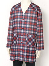 Ombrer Check Mesh Long Tee