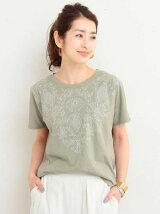 BY∴ フラワー刺繍ショートスリーブ