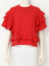 CREPE WEAVE Flared Sleeve Blouse