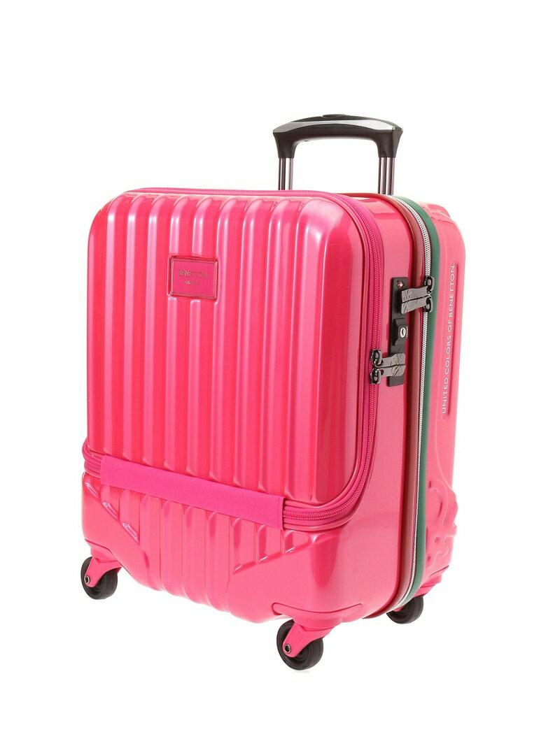 【SALE/20%OFF】BENETTON フロントオープンキャリーケース・スーツケース(S)機内持込可 容量約24L ベネトン バッグ【RBA_S】【RBA_E】【送料無料】