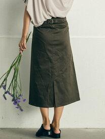 【SALE/10%OFF】MAYSON GREY 【socolla】綿ストレッチバックル付きベイカースカート メイソングレイ スカート スカートその他 カーキ ブラック ベージュ【送料無料】
