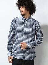 (M)コットンオンブルチェックボタンダウンシャツ
