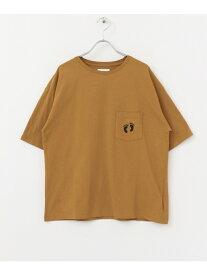 Sonny Label CALOLINEHANGTEN/ICONPRINTT-SHIRTS サニーレーベル カットソー Tシャツ ホワイト ベージュ【送料無料】