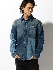 Calvin Klein Jeans 【カルバン クライン ジーンズ】 メンズ デニム シャツ 1 PK カルバン・クライン シャツ/ブラウス 長袖シャツ ネイビー【送料無料】
