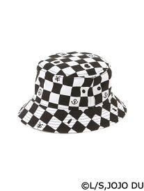 BROWNY/(M)ジョジョコラボ総柄HAT ウィゴー 帽子/ヘア小物
