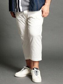 【SALE/40%OFF】HIDEAWAYS(大きいサイズ) <大きいサイズ>市松柄ジャカードパンツ ニコル パンツ/ジーンズ ショートパンツ ホワイト ネイビー【RBA_E】【送料無料】
