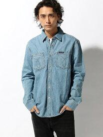 Calvin Klein Jeans 【カルバン クライン ジーンズ】 メンズ デニム シャツ A-L カルバン・クライン シャツ/ブラウス 長袖シャツ ブルー【送料無料】