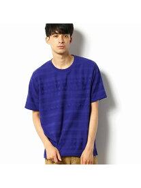 COMME CA COMMUNE パネルボーダーリンクスTシャツ コムサイズム カットソー Tシャツ パープル ホワイト グリーン【送料無料】