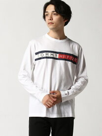 【SALE/30%OFF】TOMMY HILFIGER TOMMY HILFIGER(トミーヒルフィガー) ロゴ ロング Tシャツ/SPORTINO LS TEE ロゴ Tee カットソー 長袖 Tシャツ メンズ トミーヒルフィガー カットソー Tシャツ ホワイト グレー ブ【RBA_E】【送料無料】