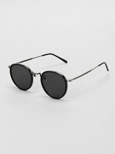 FLEX (U)【4color】round boston sunglass フレックス ファッショングッズ サングラス ブラック