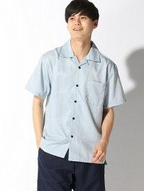 【SALE/36%OFF】CORISCO CORISCO/(M)ブロードハンソデオープンシャツ サンコーバザール シャツ/ブラウス 半袖シャツ ブルー ネイビー ピンク ブラック ベージュ【RBA_E】