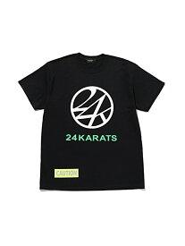 24karats 24karats/(M)Mill Spec Logo Tee SS バーチカルガレージ カットソー Tシャツ ブラック ホワイト【送料無料】