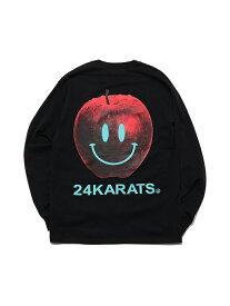 24karats 24karats/(M)Apple Logo Tee LS バーチカルガレージ カットソー Tシャツ ブラック レッド ホワイト【送料無料】