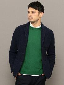 SHIPS SC:TEXBRID(R)ハニカム/ジャガードローゲージ2ボタンジャケット シップス シャツ/ブラウス ワイシャツ ブルー グレー ブラウン グリーン【送料無料】