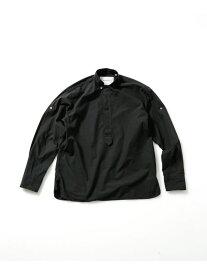 【SALE/60%OFF】BAGUTTA スタンドカラーオーバーシャツ ナノユニバース シャツ/ブラウス シャツ/ブラウスその他 ブラック ホワイト【RBA_E】【送料無料】
