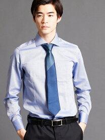 MONSIEUR NICOLE セミワイドカラードレスシャツ ニコル シャツ/ブラウス 長袖シャツ ネイビー ホワイト【送料無料】