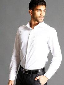 MONSIEUR NICOLE セミワイドカラードレスシャツ ニコル シャツ/ブラウス 長袖シャツ ホワイト ブラック ブルー【送料無料】