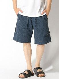 SILAS PLAID SHORT PANTS サイラス パンツ/ジーンズ ショートパンツ ブルー グレー【送料無料】